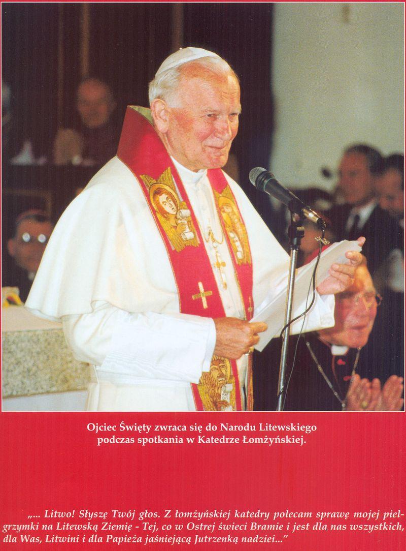 Papież Jan Paweł II przemawia do Narodu Litewskiego