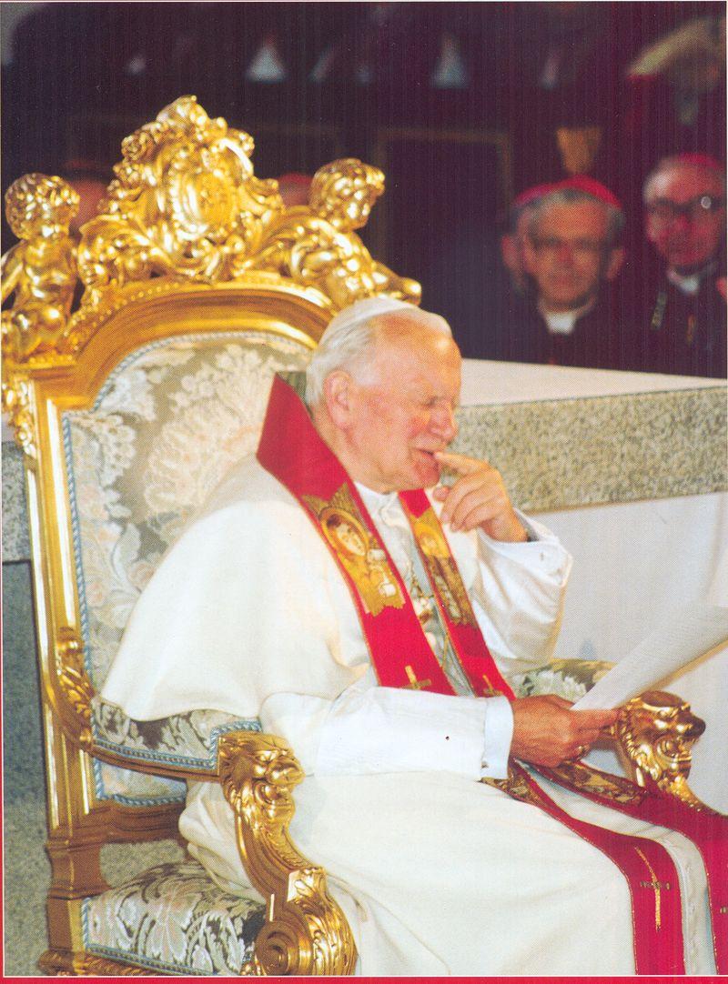 Papież Jan Paweł II w łomżyńskiej Katedrze