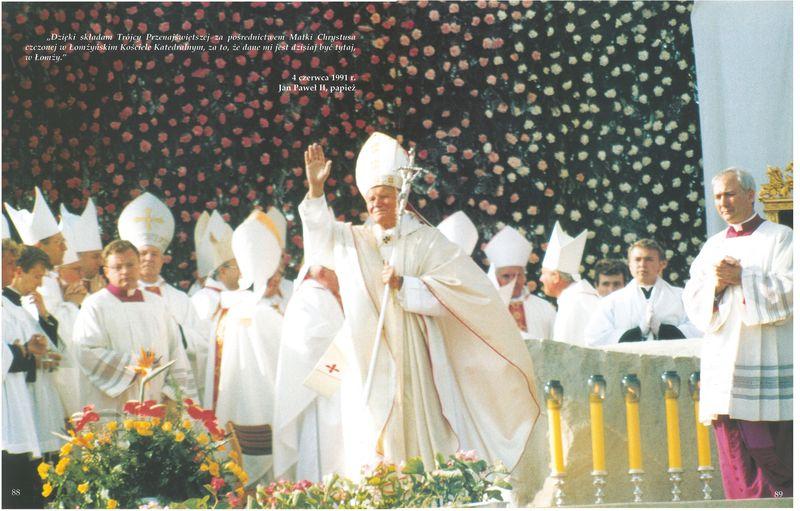 Papież w łomżyńskiej Katedrze