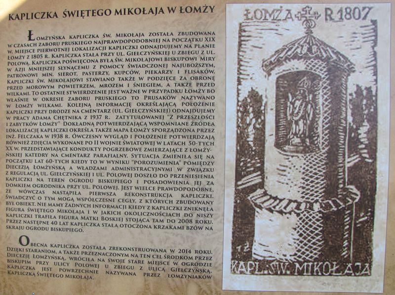 Historia Kaplicy św. Mikołaja. Zdjęcie wyk. H. Sierzputowski