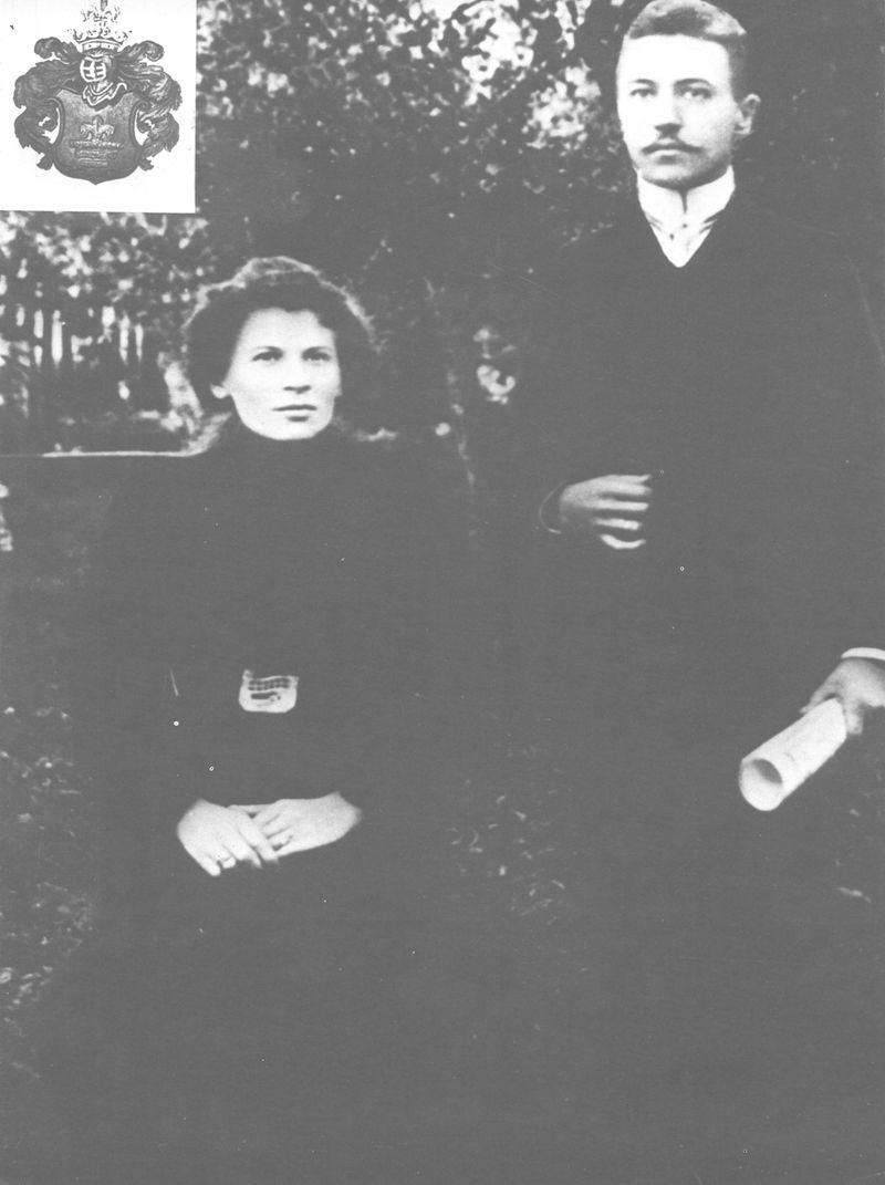Rodzice Stefana Wyszyńskiego. Wrogu Herb Wyszyńskich - Roch III