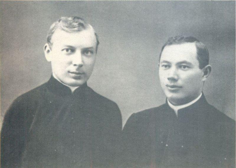 Z kolegą ks. Janem Tyszką.