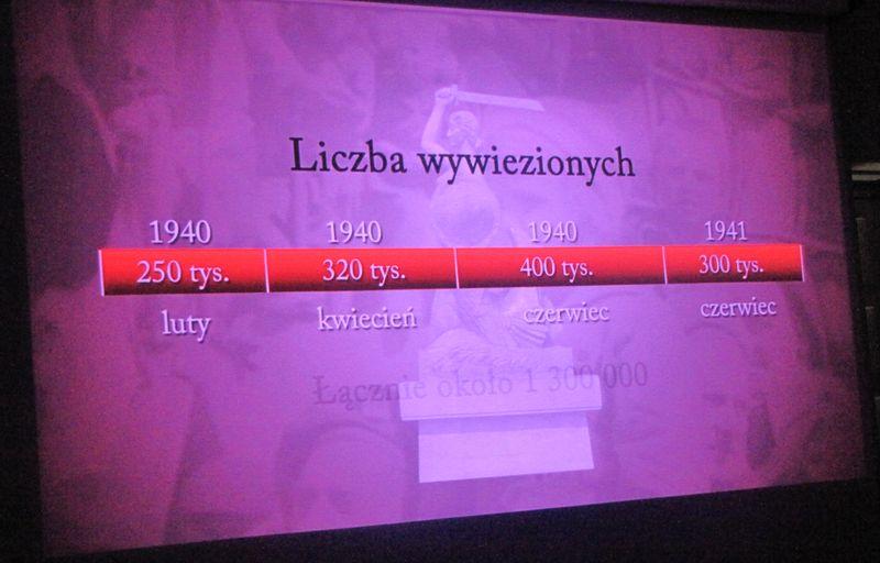 Liczba deportowanych Polaków kadr z filmu