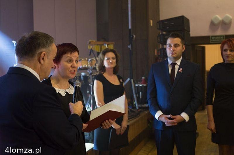 Odczytanie listu Jerzego Smurzyńskiego do uczestników uroczystośc