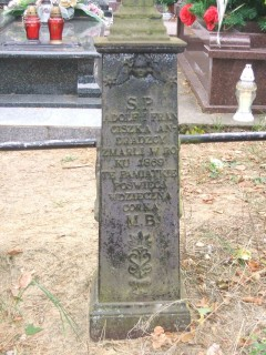 Nagrobek Franciszki i Adolfa Andradzkich na cmentarzu w Jaminach