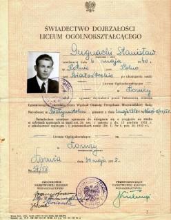 Arkusz ocen Stanisława Gugnackiego