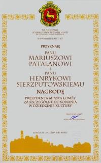 Dyplom dla wydawców Serwisu
