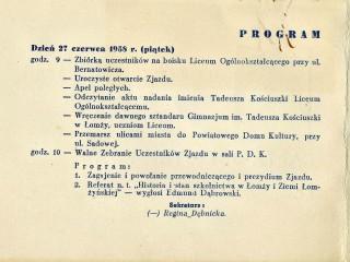 Program I Zjazdu
