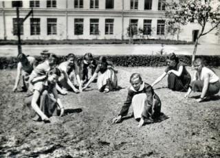 Przy pieleniu 1956