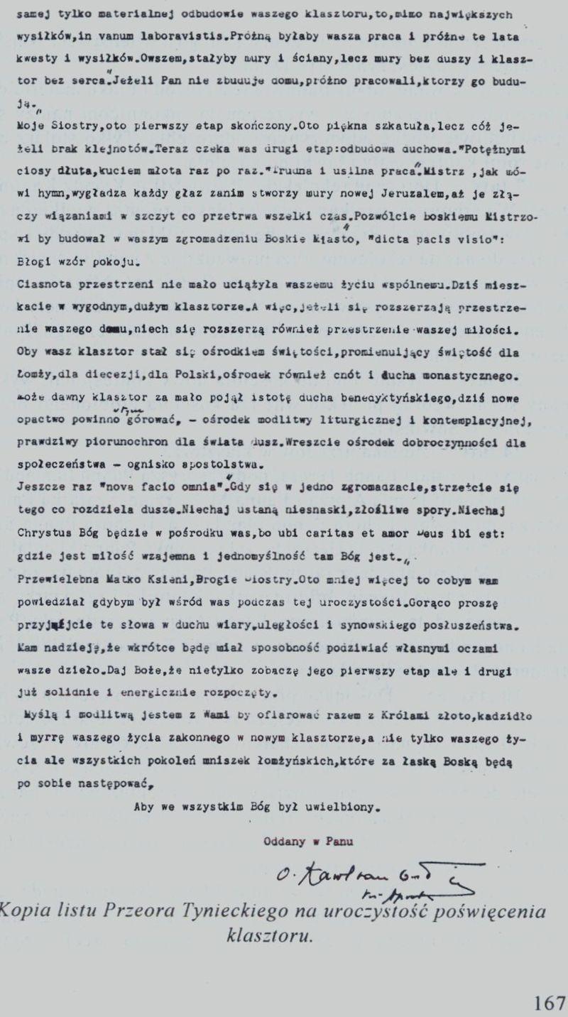 Kopia listu Przeora Tynieckiego 2