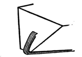 Metalowe okucie dolnej części łyżwy