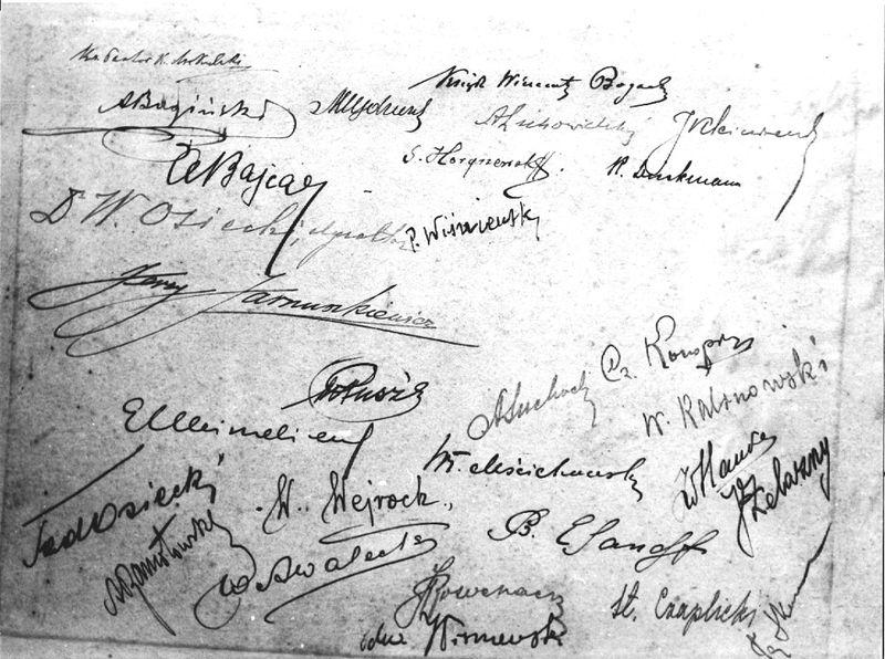 155. Podpisy