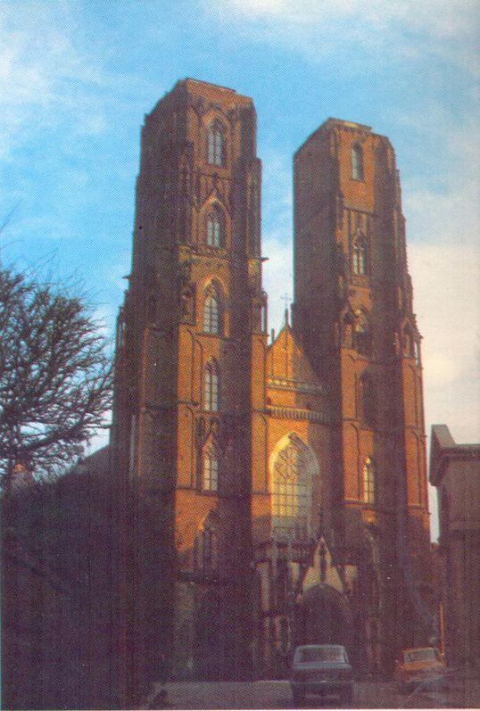 Widok obecny archikatedry św. Jana we Wrocławiu.