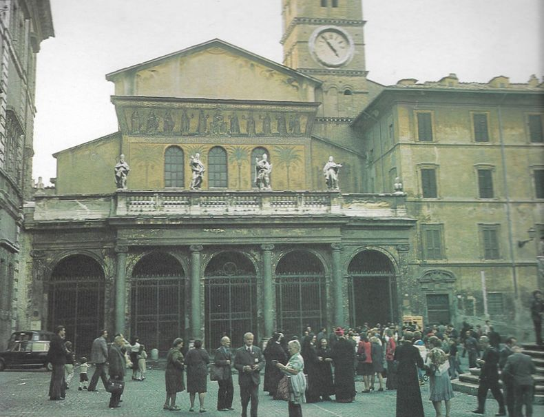 Bazylika Santa Maria w Trastevere - kościół tytularny kard. Stefana Wyszyńskiego w Rzymie