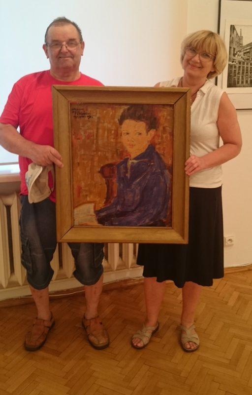Przekazanie portretu do zbiorów Muzeum Północno Mazowieckiego w Łomży