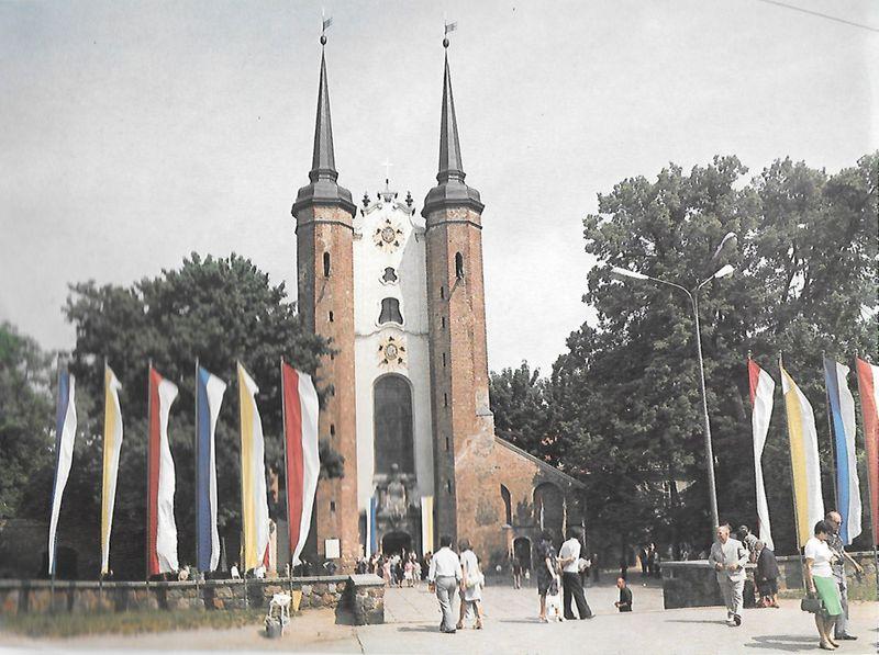 Fronton bazyliki katedralnejw Gdańsku - oliwie.pw. Św.Trójcy