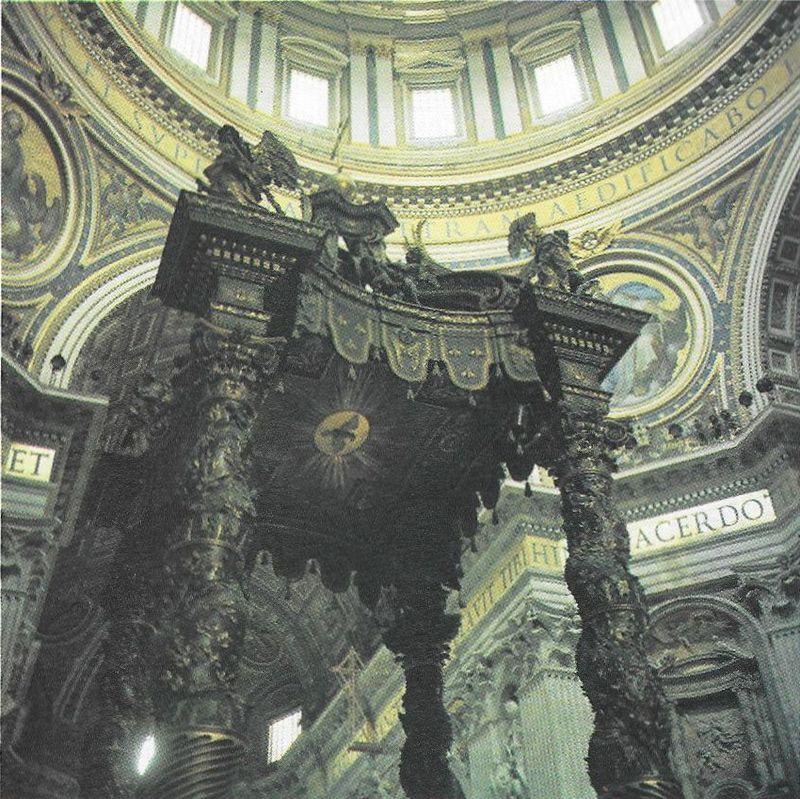 Rokokowy baldachim L. Berniniego nad konfesją św. Piotra w bazylice watykańskiej