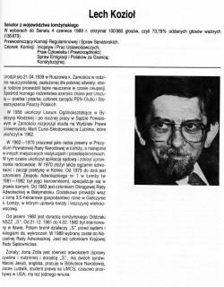 """Lech Kozioł - Senator z Ziemi Łomżyńskiej w latach 1989-1991 /KO """"Solidarność""""/ źródło: domena publiczna"""