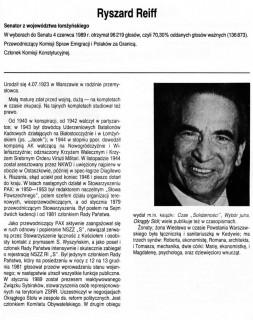 """Ryszard Reiff - Senator z Ziemi Łomżyńskiej w latach 1989-1991 /KO """"Solidarność""""/ źródło: domena publiczna"""