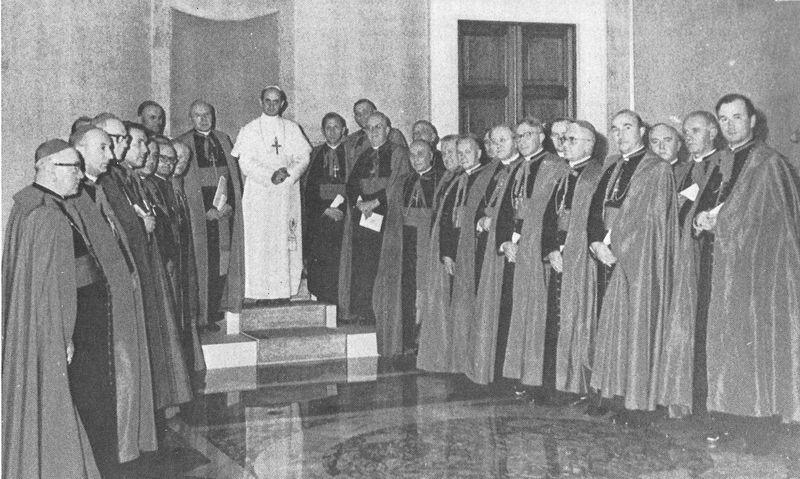 Podczas audiencji biskupów polskich u Pawła VI - 4 listopada 1964 r.