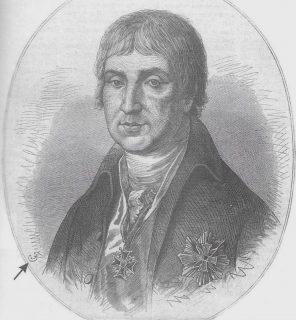 """Chryzanty Opacki (1741-1806) na XIX- wiecznym obrazie olejnym nieznanego autora. Repr. """" Tygodnik Ilustrowany"""" 370 z 1875 r."""