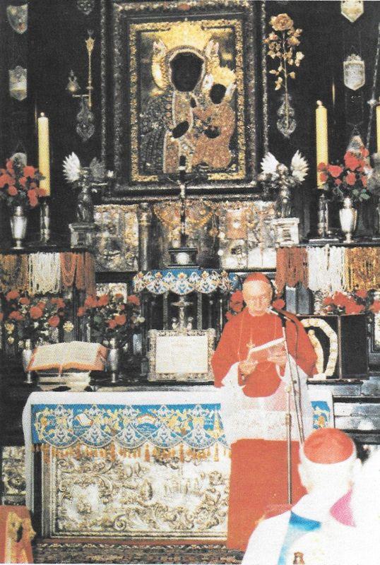 Wygłasza przemówienie w Kaplicy Jasnogórskiej podczas rewizyty biskupów zachodnioniemieckich.