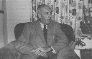 Kazimierz E. Skarżyński. Zdjęcie z lat 50. XX w.na emigracji w Kanadzie. Zer zbiorów rodzinnych Marii Skarżyńskiej