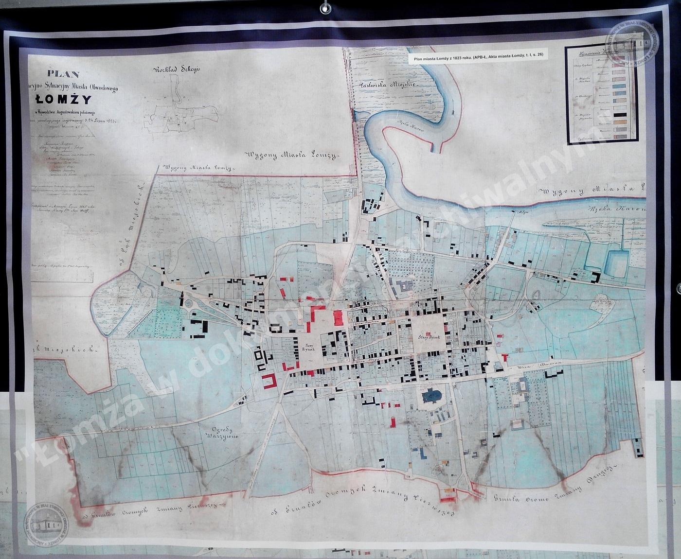 Plan miasta Łomży z 1823r