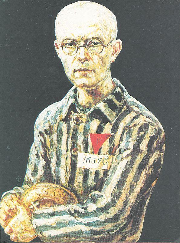 O. Maksymilian Maria Kolbe, więzień obozu koncentracyjnego Nr 16670 (obraz Mieczysława Kościelniaka, towarzysz niedoli obozowej.