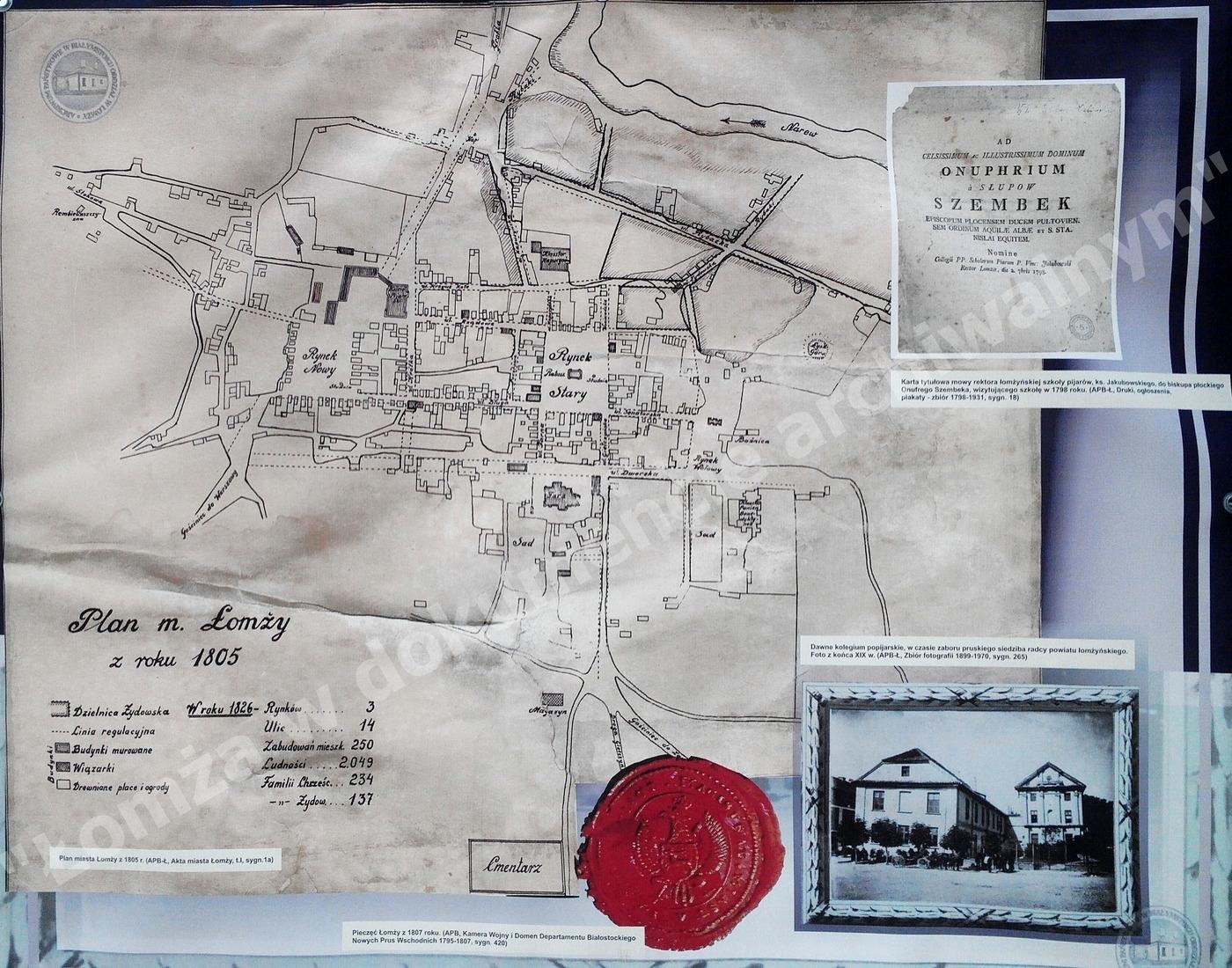 Plan miasta z 1805r