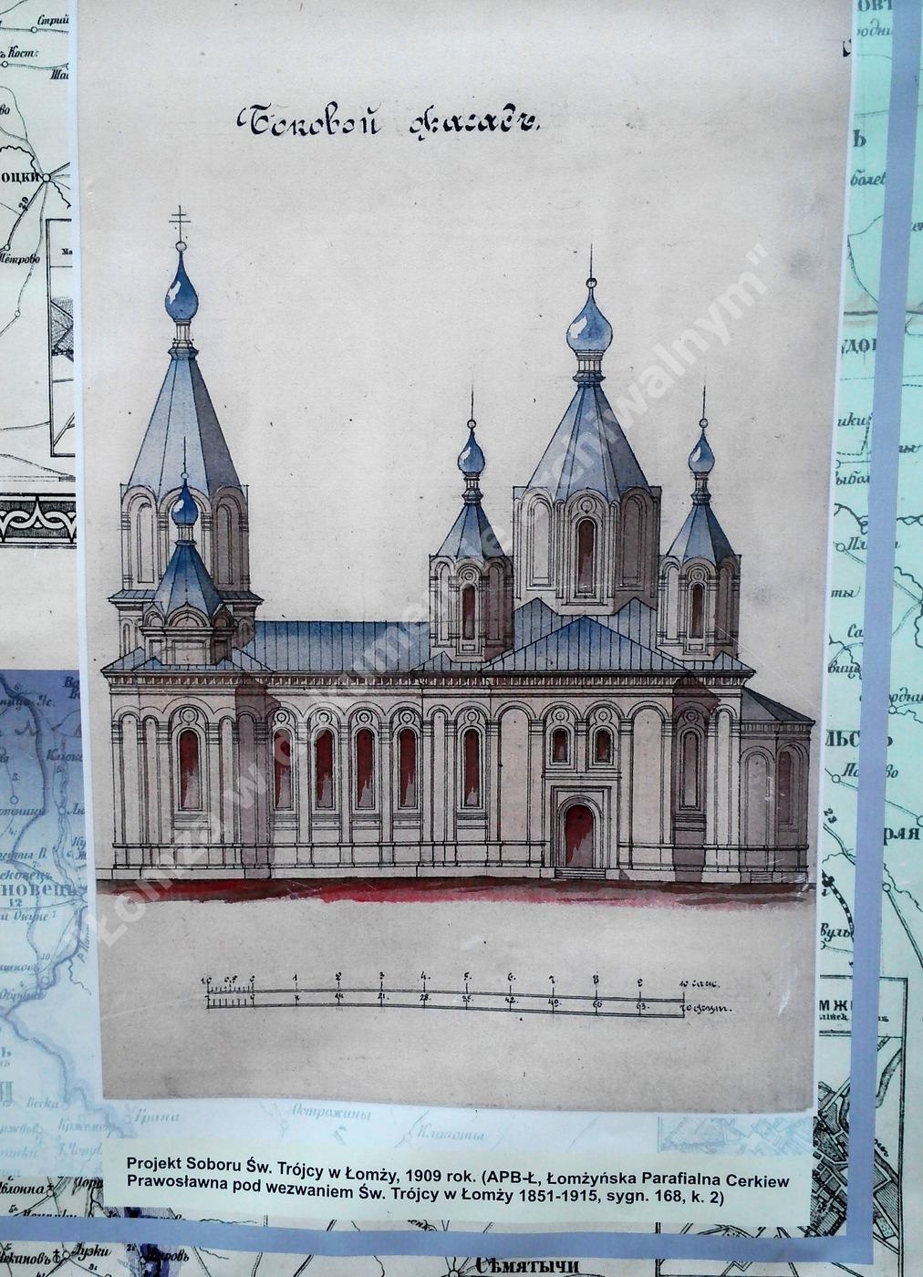 Obecny mały kościółek na pl. Jana Pawła 2