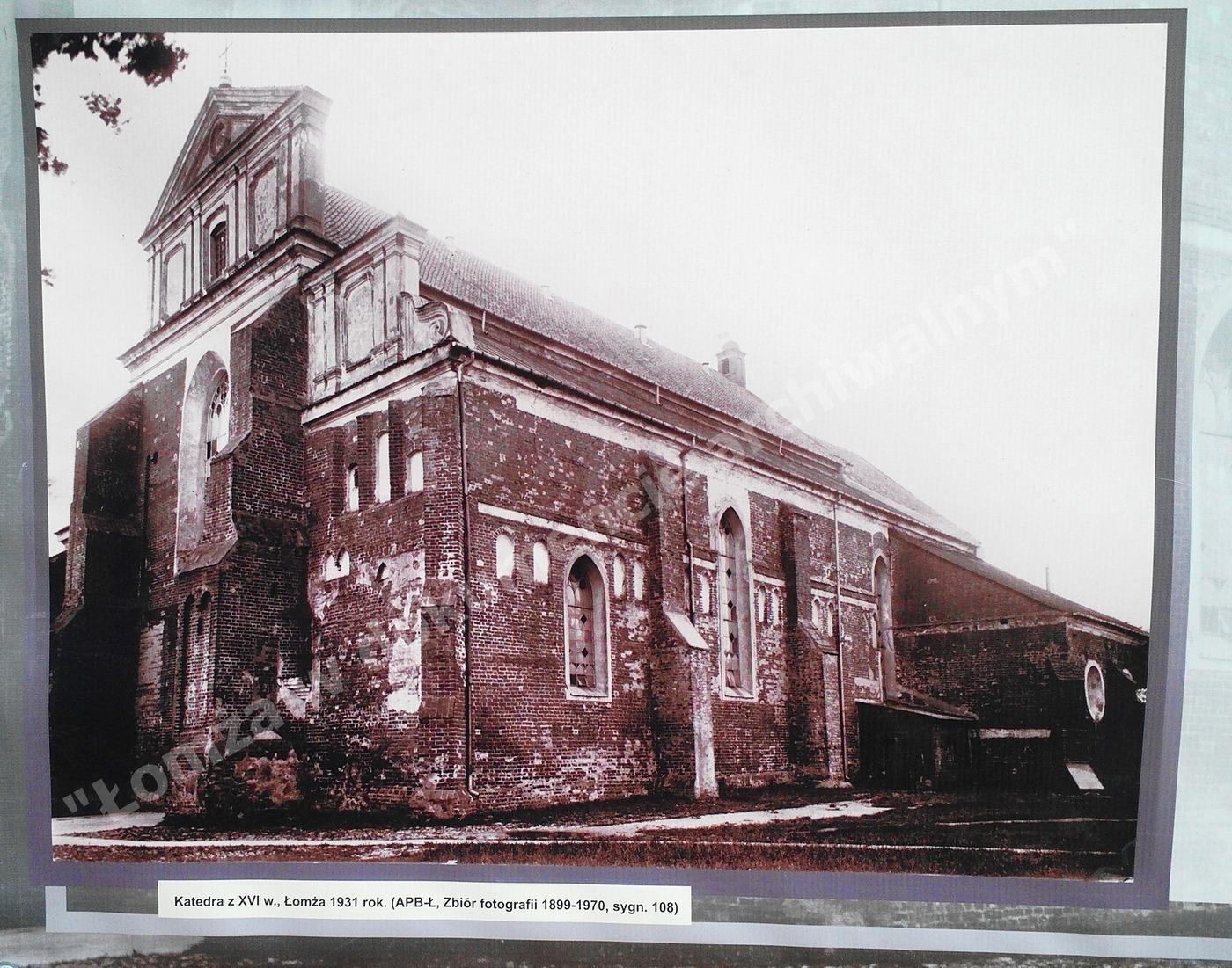 Katedra łomżyńska 1931r