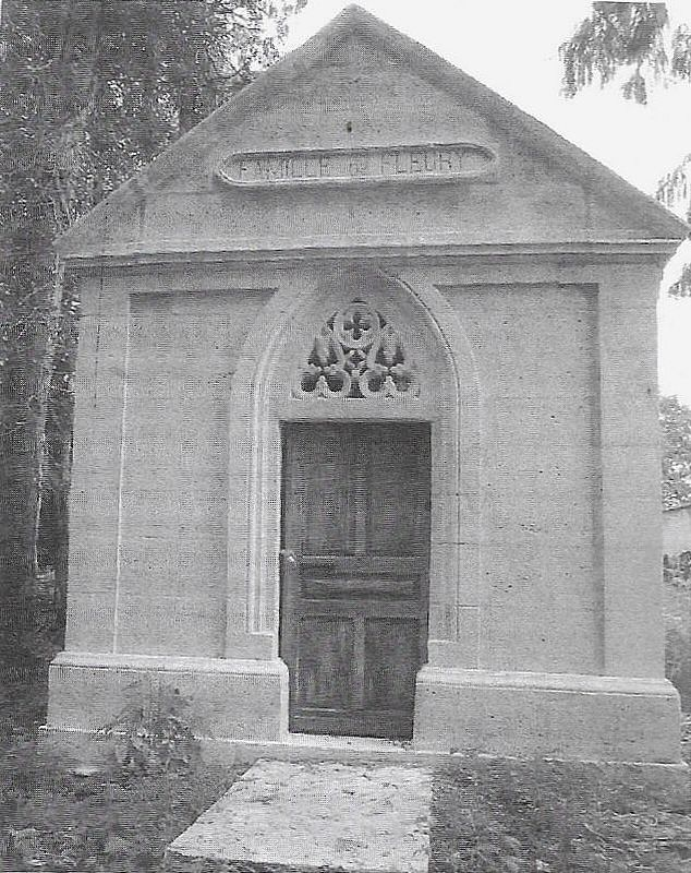 Grób rodziny de Fleury na-cmentarzu w Vieux-Cerier