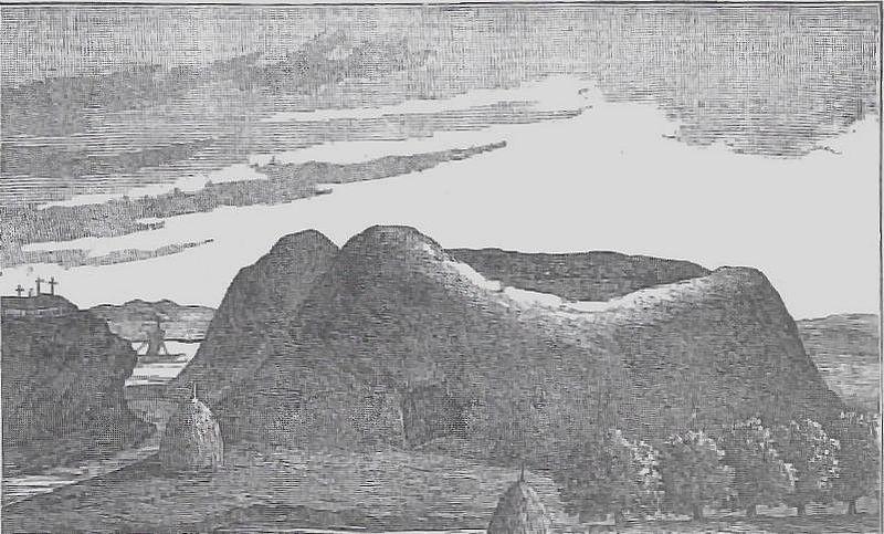 Grodzisko w Wiźnie, szkic przedstawiony na Kongresie Archeologicznym w Moskwie w 1890 r