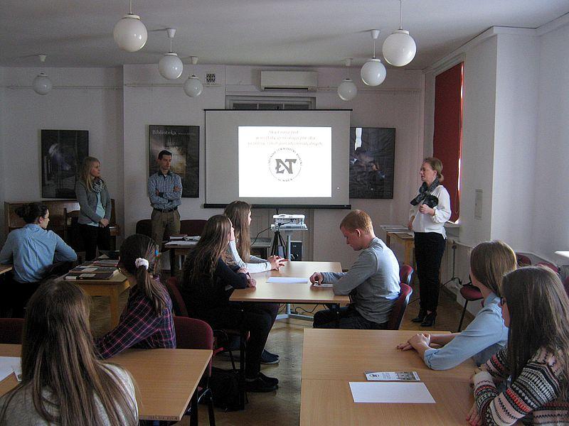 Spotkanie na Poddaszu z uczniami Szkół Ekonomicznych