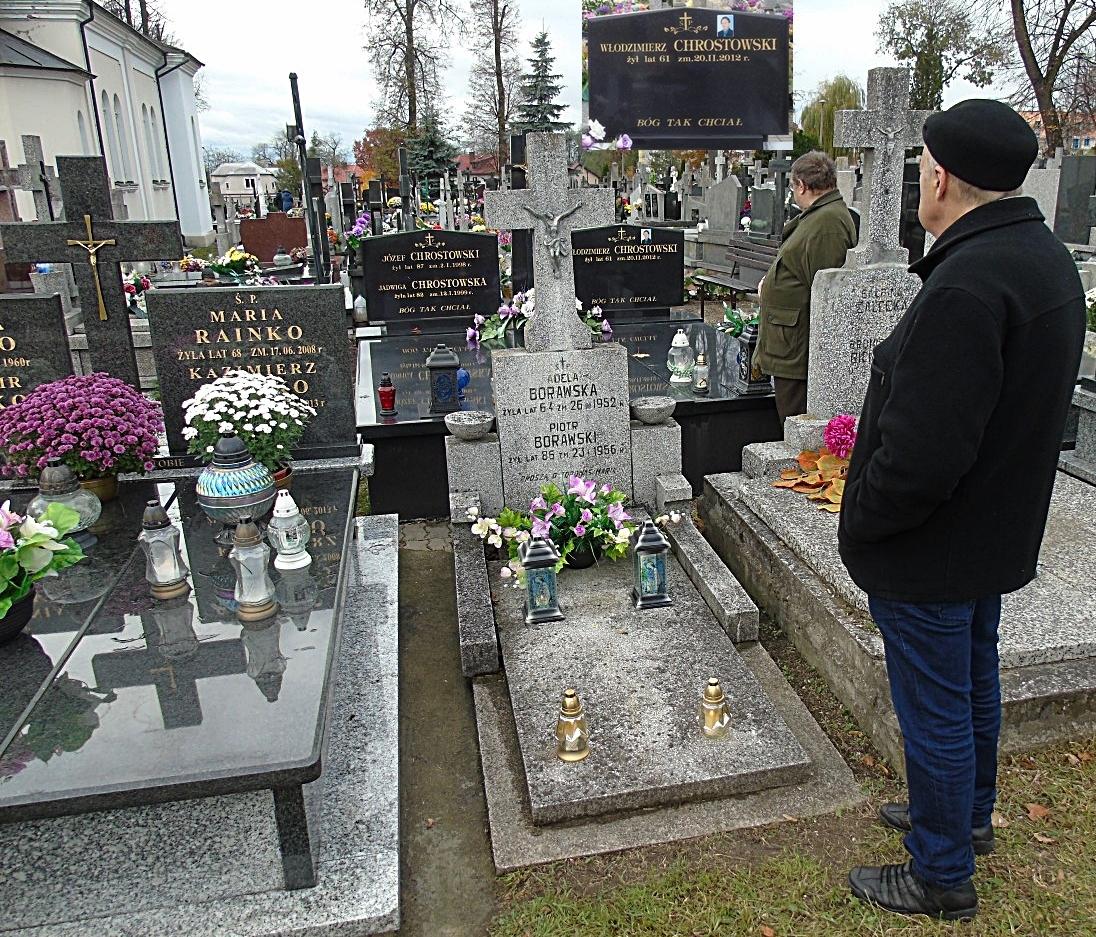 Grób rodzinny kolegi Włodzimierza Chrostowskiego, lokalnego patrioty, ławnika - założyciela Łomżyńskiego Bractwa Historycznego