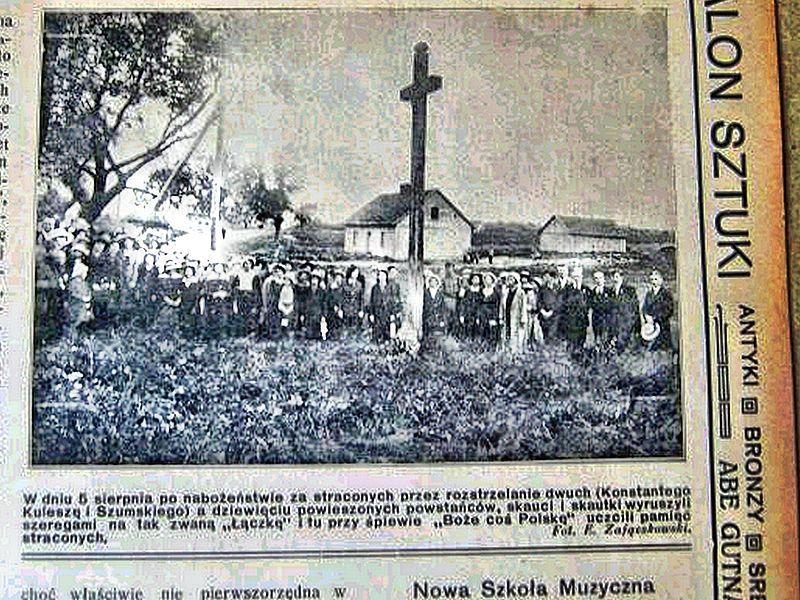 Mokra Łaczka miejsce mordu powstańców -1916 r.