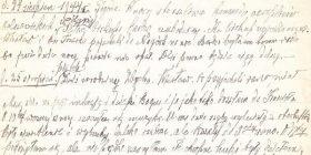 Fragment oryginalnego zapisu w pamiętniku