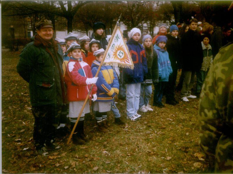 Fot. Drużyna podczas Rajdu Złote Liście Jesieni w 1998 r.